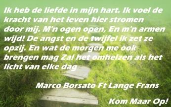 songtekst banner 3 Kom maar Op -Marco ft Lange Frans